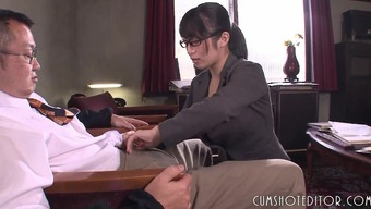 Submissive Place Of Work Japanese Teen Eye-Catching A Man