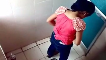 A Number Of Novice Indian Dark Gals Peeing Within The Toilet On Voyeur Cam