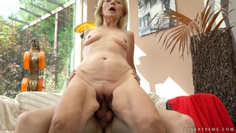 Perverted Granny Allows The Nerdy Stud To Effectively Spoon Her Seasoned Beaver
