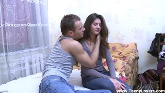 Fascinating Teen'S Fucked In Their Bedchamber By Her Partner