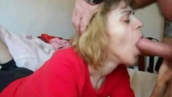 Mother In Mouth-Fuck N Cum Suck Action