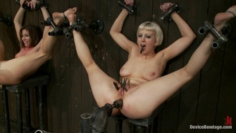 Superior Bdsm With The Use Of Devices &Amp; Spread Hotties