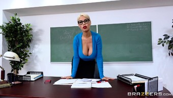 Bridgette B Is Basically A Busty Tutor Who Craves To Really Feel A Penis