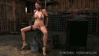 Great Boobed Surrounded Spiteful Lady Must Suffer With Like She Is In Torture