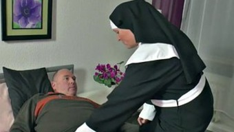 The German Language Granny Nun Get Fucked With The Use Of Not Daddy In Sextape
