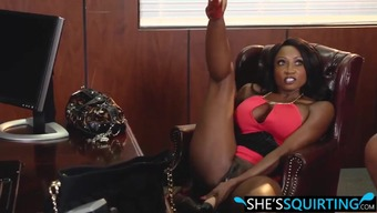 Jasmin And Gem On Squirting Rivalry Inside The Deans Office