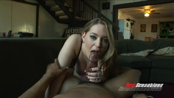 Plump Blonde Cutie Bad Boys Off An Important Dark Colored Cock And Stinks It