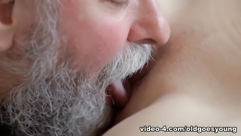 Stunning Bones Gets Fucked By The Naughty Old Adult Man, Her Guy Comes And Wrist Watches - Oldgoesyoung