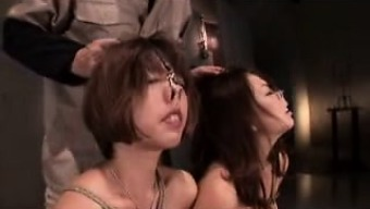 A Pair Of Twisted Japanese People Girls In Panties Play Out Their Bondage