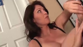 Irritated Step-Mom Jerking The Youth Mankind