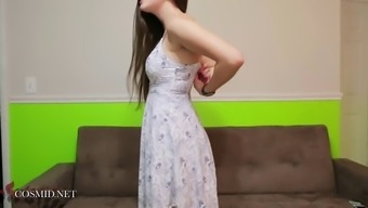 Sweet Blonde Young Adult Katy Requires Her Dress Off And Teases