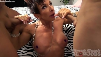 Nude Female Body Builder Requires A Couple Of Tons And Treasures It