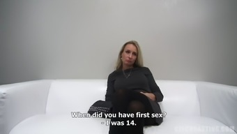 Senior Milf Discusses Her Twisted Sexual Intercourse Life On Video Camera