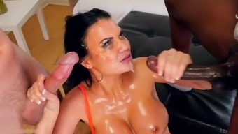 Great Tit Milf Gets Handle Fucked By A Couple Of Huge Dicks