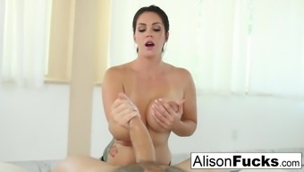Alison Tyler Gives A Sexy Blow Occupation With Titty Fucking