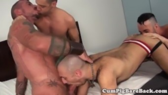 Black Gobble Assfucking Twinks In Foursome