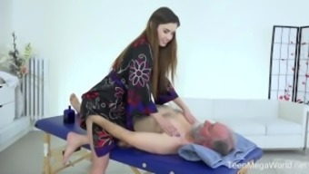 Old-N-Young.Com - Elle Rose - Intriguing All Over Massage Therapy