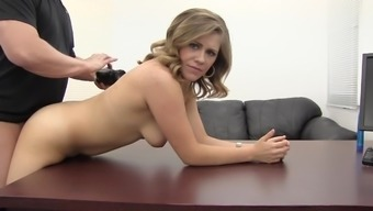 Eating Out And Fucking A Cutie Bent Over A Desk