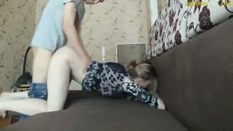 Russian Dogging On The Couch