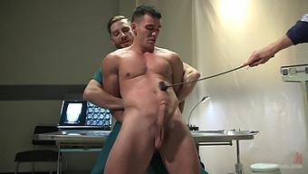 Gay Threesome Is The First Gay Experience Of Horny Brogan Reed