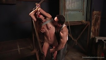 Bdsm While She Screams From Pleasure Is Fabulous For Audrey Holiday