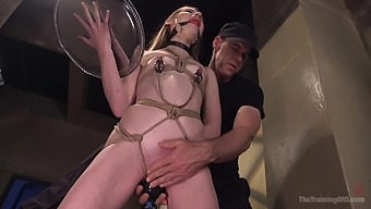 Tied Blonde Alice March Is Ready For The Rough Bdsm And Sex Toys