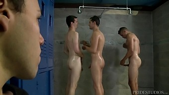 Handsome Jamie Del Rey And His Friends Adore Hard Orgy And A Strong Cum