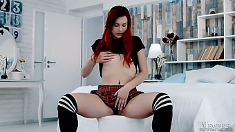 Tempting Ginger Coed Cherry Is Playing With Sex-Starved Pussy