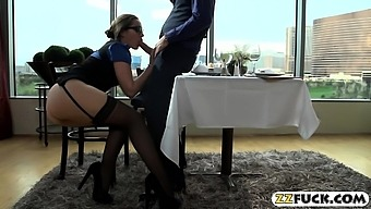 Office Babe Pounded Hard By Thick Cock In A Restaurant
