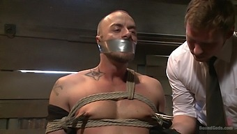 Bad Ass Office Dude Gets Tied Up And Begs To Be Fucked Balls Deep
