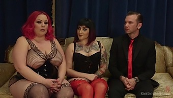 April Flores And Camille Black Have Threesome With Male Slave